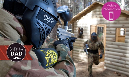 From $10 for Paintball with Equipment Hire + 100 Paint Balls with Delta Force Paintball, Two Locations (From $45 Value)