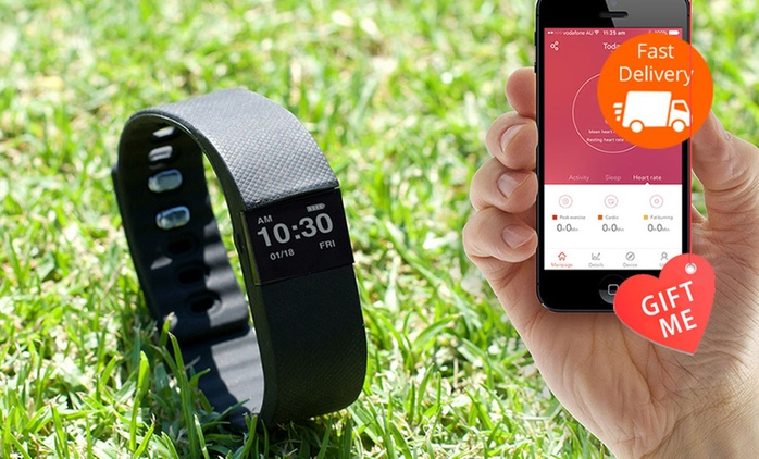 $29.95 for a Bluetooth Activity Bracelet with a Heart Rate Function (Don't Pay $195)