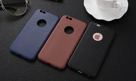 iPhone hoesje tpu leer voor iPhone 6/6 plus en 7/7 plus, in kleur naar keuze