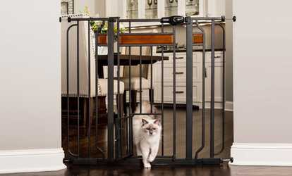 Shop Groupon Carlson Design Paw Walk Through Pet Gate With Small Door