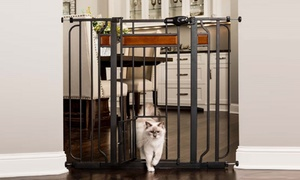 Carlson Design Paw Walk-Through Pet Gate with Small Door