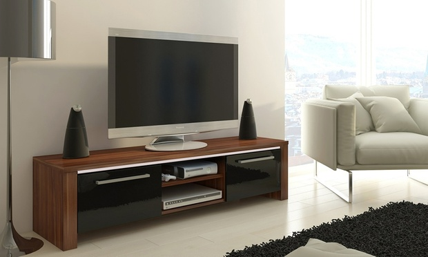meuble tv avec sans led orlando groupon shopping. Black Bedroom Furniture Sets. Home Design Ideas