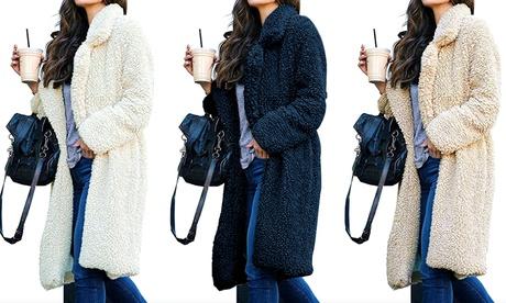 Abrigo largo con borreguito