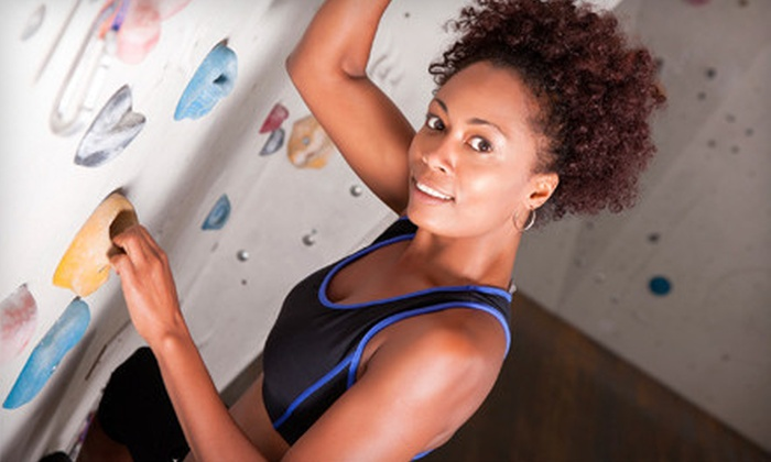 Thresh Hold Climbing + Fitness - Hunter Industrial Park: $29 for Five-Visit Climbing Package with Belay Class at Thresh Hold Climbing + Fitness in Riverside ($100 Value)