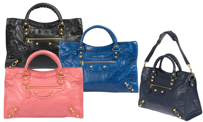 Balenciaga Classic City and Giant 12 Gold City Handbags
