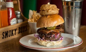 Smoky Boys: £10 for £20 Worth of Build-Your-Own Burgers for Two at Smoky Boys (50% Off)