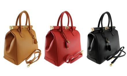 Handtasche aus Leder in der Farbe nach Wahl (Sie sparen: 65%)