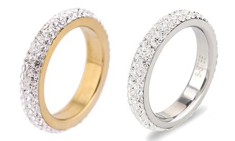1 o 2 anillos con cristales