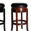 Backless Swivel Wood Barstool