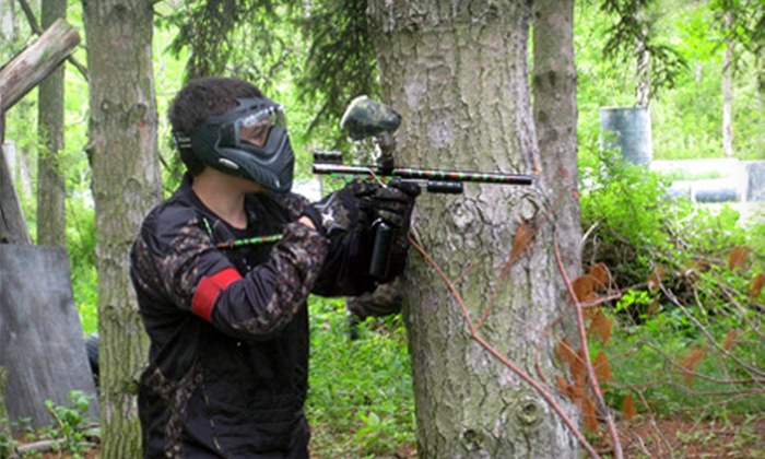 Splat Shack Paintball‎ - Orrville: $20 for a Paintball Adventure with Ammo, Equipment, and All-Day Air at Splat Shack ($40 Value)