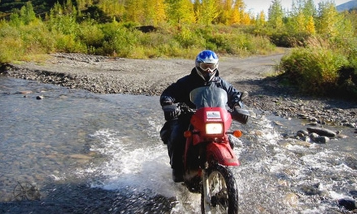 MotoQuest - Spenard: $40 for Two Yamaha Scooters Rental ($80 Value) or $50 for One Kawasaki Motorcycle Rental ($100 Value) from MotoQuest