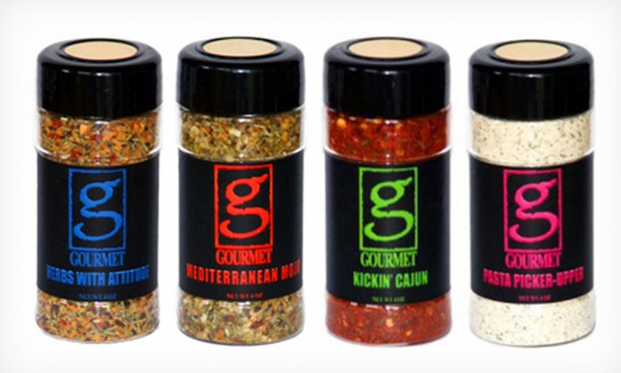 The Gourmet Man - Multiple Locations: Signature Series Four-Pack of Spices with 12 Free Gourmet Recipes for Pickup or Delivery at The Gourmet Man (52% Off)