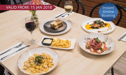 ThreeCourse Dinner with Glass of Wine for Two $49 or Four People $95 at Short Black Cafe Up to $334 Value
