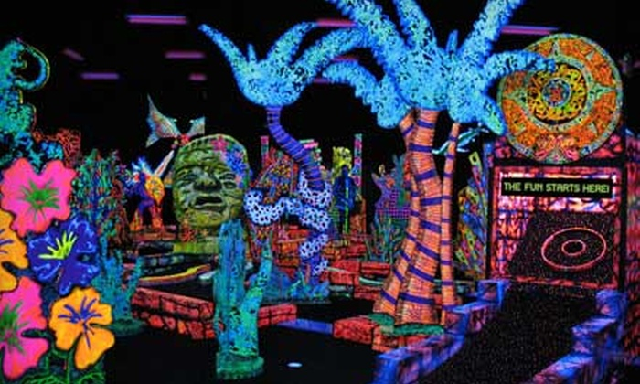 Putting Edge - Clayton Park West: $10 for 18 Holes of Glow-in-the-Dark Mini Golf for Two at Putting Edge (Up to $21 Value)