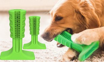 Dog Rubber Toy Stick Toothbrush