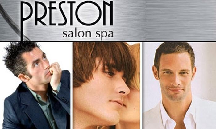 Preston Salon Spa - Clayton: $18 for a Men's Haircut from Preston Salon Spa ($40 Value)