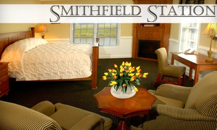 Smithfield Station - Smithfield: Getaway for Two in a Deluxe Lodge at Smithfield Station in Smithfield. Choose Between Two Options.