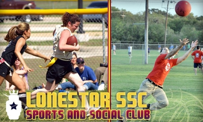LoneStar Sports and Social Club - Dallas: $24 for an Individual-League Registration at LoneStar Sports and Social Club ($48 Value)
