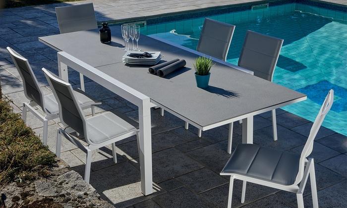 Table de jardin extensible Evian | Groupon