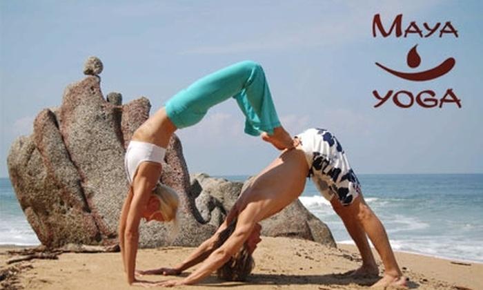 Maya Yoga - Crossroads: $30 for One Month of Unlimited Yoga Classes at Maya Yoga