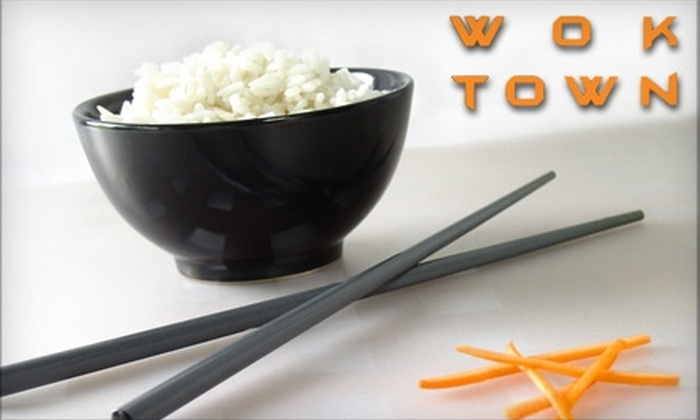 Wok Town - Downtown Miami: $10 for $20 Worth of Cantonese Fare and Drinks at Wok Town