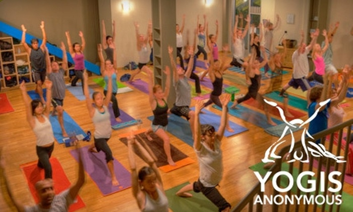 Yogis Anonymous - Downtown Santa Monica: $40 for 10 Classes at Yogis Anonymous in Santa Monica ($140 Value)