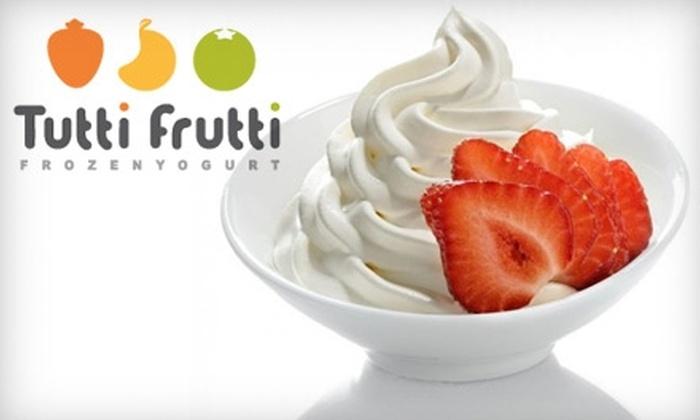 Tutti Frutti - Millenia: $5 for $11 Worth of Frozen Yogurt, Toppings, Fun Flavors, and More at Tutti Frutti