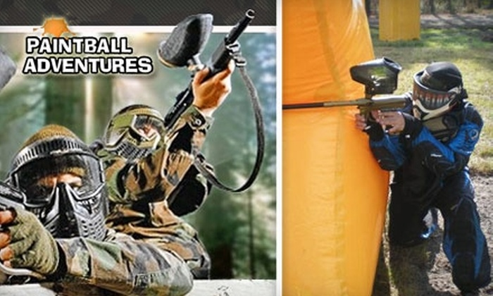 Paintball Adventures - Oceanway: $24 for a Standard All-Day Play Package Plus Field Fee and 500 Rounds of Ammo at Paintball Adventures
