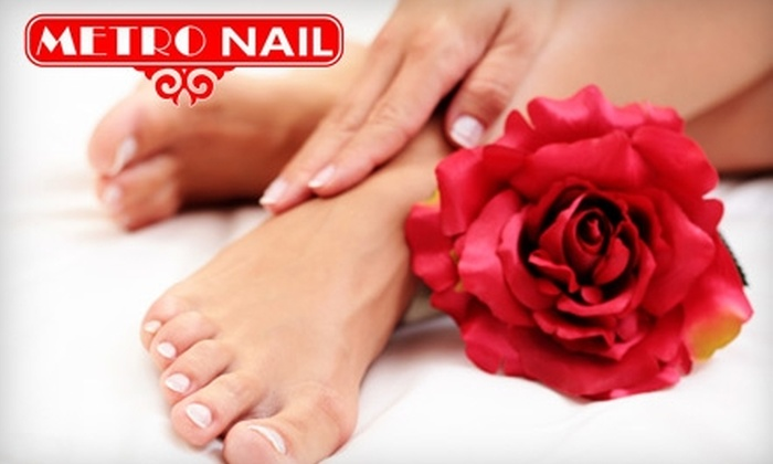 Metro Nails - Hillcrest: $15 for Spa Manicure and Pedicure at Metro Nails in Hillcrest ($30 Value)