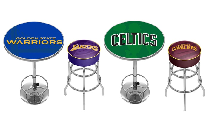Wondrous Up To 70 Off On Trademark Nba Bar Stool Or Table Groupon Short Links Chair Design For Home Short Linksinfo