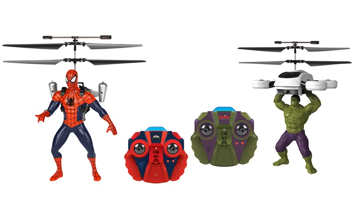 2-Channel RC Marvel or DC Comics Flying Figure Helicopter