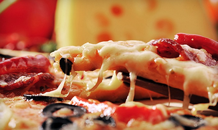Dino's Pizzeria & Fast Food - Oak Park: One or Two Large-Topping Pizzas, Appetizers, and Two-Liter Sodas at Dino's Pizzeria & Fast Food (Up to 52% Off)