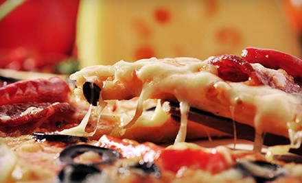 One or Two Large-Topping Pizzas, Appetizers, and Two-Liter Sodas at Dino's Pizzeria & Fast Food (Up to 52% Off)