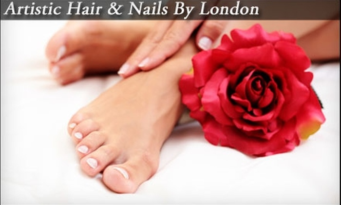 Artistic Nails by London - Downtown Clovis: $20 for a Mani-Pedi or Rock Star Toes at Artistic Nails by London ($40 Value)