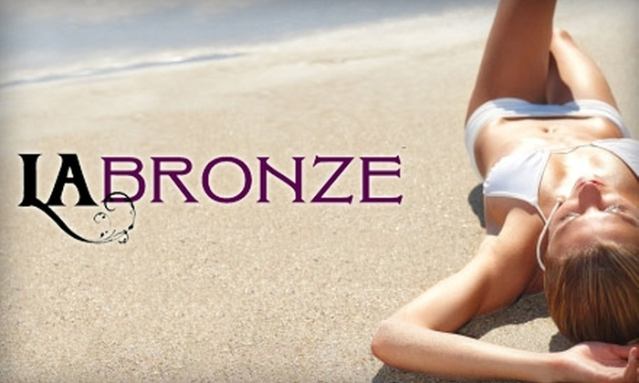 L.A. Bronze Ultra-Luxe Tanning Studios - Multiple Locations: $29 for One Month of Unlimited Tanning (Up to $129 Value) or Two Mystic Spray Tans ($58 Value) at L.A. Bronze Ultra-Luxe Tanning Studios