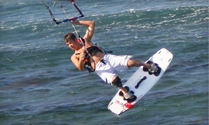 North Florida Kiteboarding - Jacksonville Beach: Surfing or Kiteboarding Lesson for One or Two from North Florida Kiteboarding