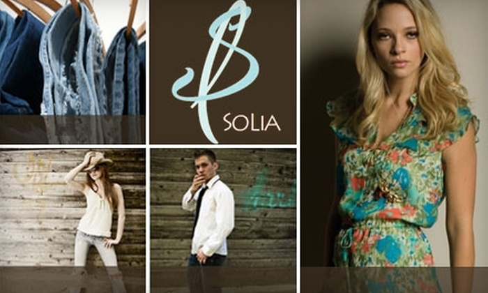 SoLia Boutique - Pittsford: $35 for $85 Worth of Designer Clothing and Accessories from SoLia Boutique
