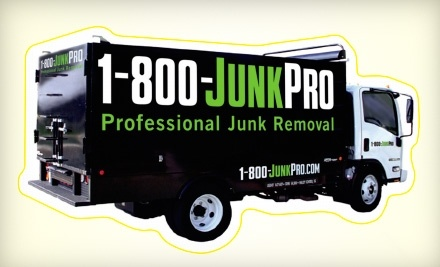 $75 Groupon for Junk Removal from 1-800-JUNKPRO - 1-800-JUNKPRO in
