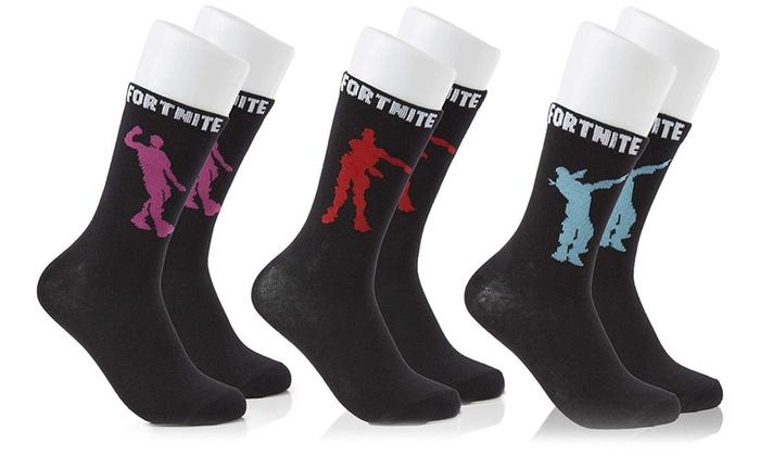 Three Pairs of Fortnite Socks