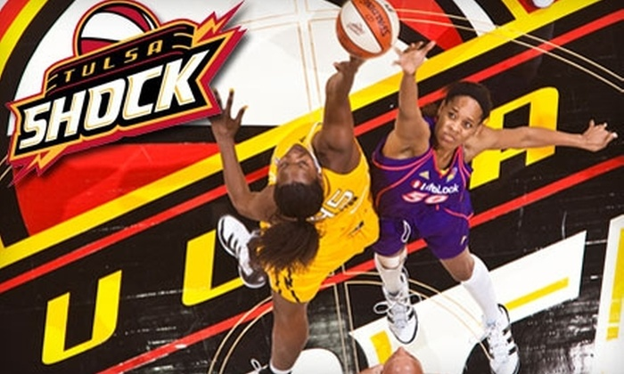 Tulsa Shock - Downtown Tulsa: $14 for a Baseline Ticket, Hot Dog, and Drink for the Tulsa Shock Game Against the Chicago Sky on Saturday, August 21 ($24.75 Value)