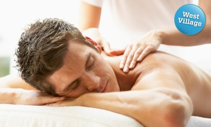 Nickel Spa for Men - New York City: $49 for a 60-Minute Swedish or Deep-Tissue Massage at Nickel Spa for Men (Up to $105 Value)