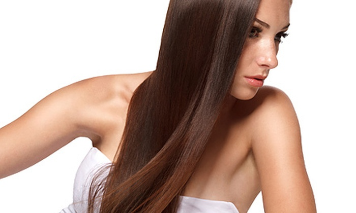 Stephanie Hall at Glamour Salon and Spa - Buffalo Grove: One or Two Keratin Treatments and Haircuts from Stephanie Hall at Glamour Salon and Spa (Up to 55% Off)