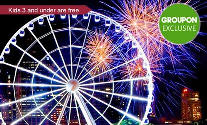 One ($13), Two ($25) or Four Tickets ($49) to The Wheel of Brisbane (Up to $84 Value)
