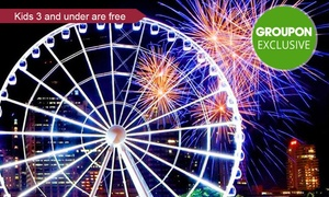 The Wheel of Brisbane: The Wheel of Brisbane: $12 for One, $23 for Two, or $46 for Four Tickets, or $69 for Private Gondola (Up to $99 Value)