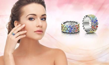 Bague Chakra de la marque The Gemseller ornée de cristaux