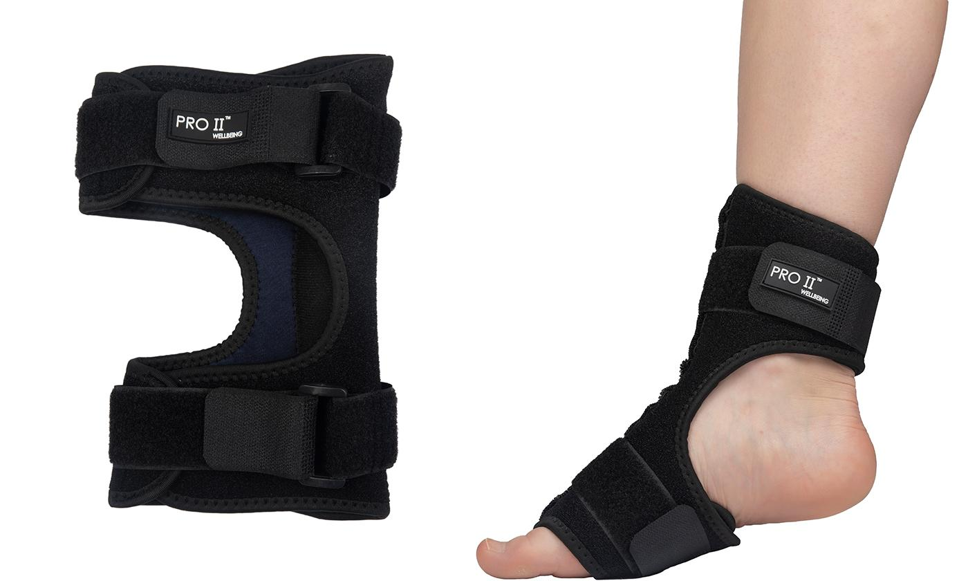 One or Two Pro 11 Wellbeing Night Splint Support Wraps for Plantar Fasciitis