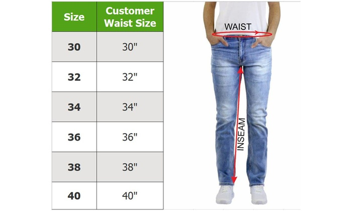 30 waist 36 length mens jeans