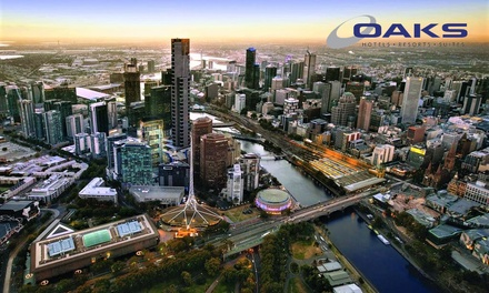 Melbourne: Two, Three, Four or Seven Nights for Two or Four People with Late CheckOut and WiFi at Oaks Southbank
