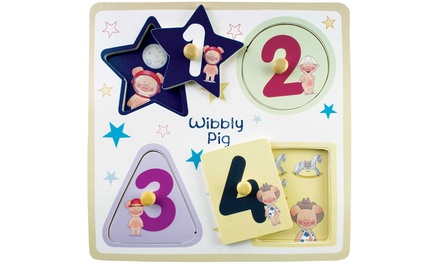 Wibbly Pig Wooden Peg Puzzle for £3.98