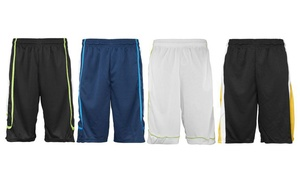 Men's Active Performance Shorts. Extended Sizes Available (4-Pack)